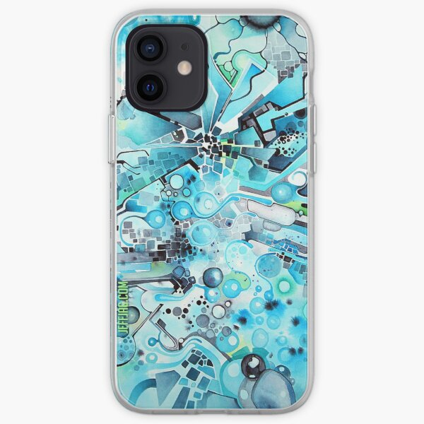 Water Crystals - Abstract Geometric Watercolor Painting iPhone Soft Case