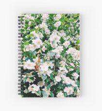 Weiße Blumen Spiral Notebook