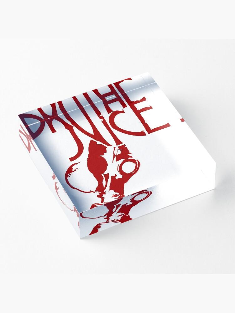 Vista alternativa de Bloque acrílico Brutal Juice GasMask Logo RED