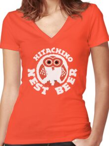 Hitachino Nest Beer Japanese Women's Fitted V-Neck T-Shirt
