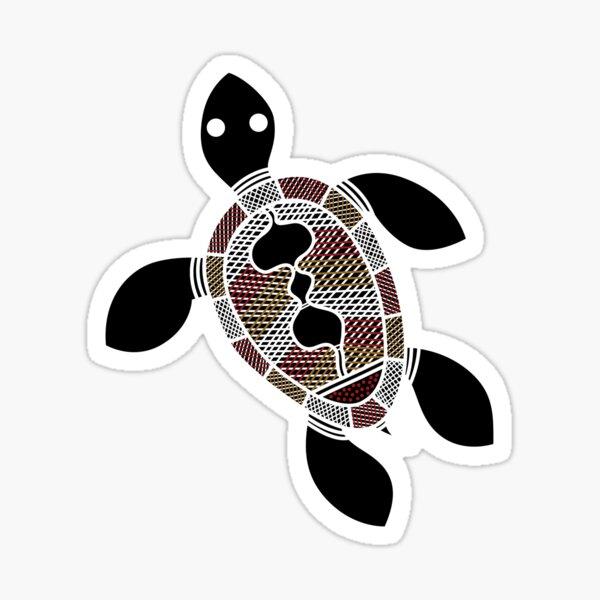 Aboriginal Art - Turtle Sticker