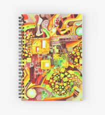 Distortion Sympathy - Watercolor Painting Spiral Notebook