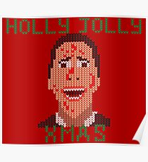 Faux-Knitted Christmas Bateman Poster