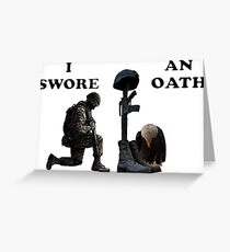 Soldier's Cross Greeting Card
