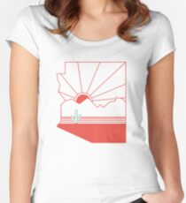 Arizona Pride - Sonoran Sunset  Women's Fitted Scoop T-Shirt