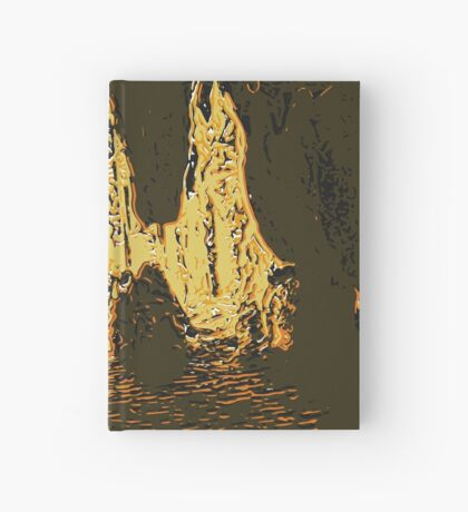 Running through the caves lithograph Hardcover Journal