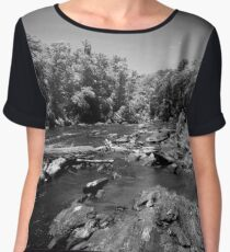 In the Rapids at Sweetwater Creek Women's Chiffon Top