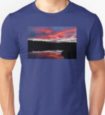 Sunset Reflecting Off Seawall Pond Acadia National Park Unisex T-Shirt