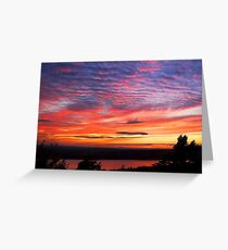 Sunset Eagle Lake in Acadia National Park Maine Greeting Card