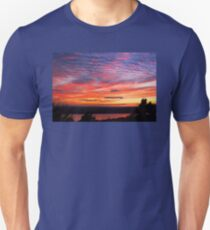 Sunset Eagle Lake in Acadia National Park Maine Unisex T-Shirt