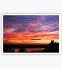 Sunset Eagle Lake in Acadia National Park Maine Sticker