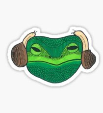Leia Frog Sticker