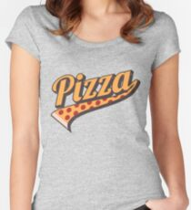 BELIEVE IN PIZZA...CAUSE PIZZA! Women's Fitted Scoop T-Shirt