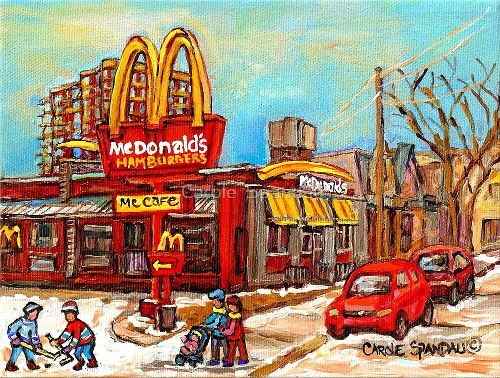 Mcdonald 39 s restaurant best selling montreal print verdun for Best way to sell paintings
