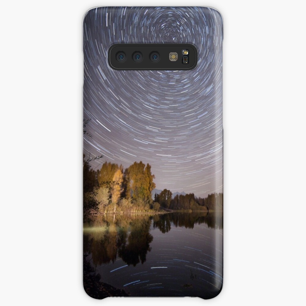 Startrails over Jackson Hole's Newest Park Case & Skin for Samsung Galaxy