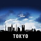 Tokyo Japan Skyline Cityscape Nightfall by T-ShirtsGifts