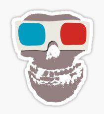 Misfits 3d Skull Sticker