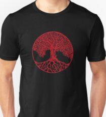 Yggdrasil Kamon /RED Unisex T-Shirt