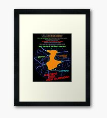 Escape From New Cumnock Orientation Map Framed Print