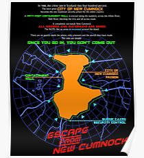 Escape From New Cumnock Orientation Map Poster