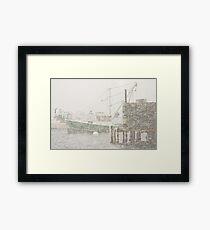 Bass Harbor in Heavy Snowstorm, Mount Desert Island, Maine Framed Print