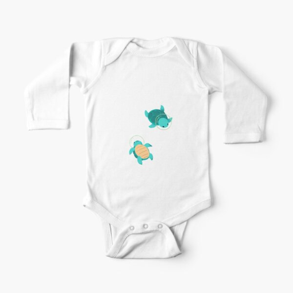 Space Turtles Long Sleeve Baby One-Piece