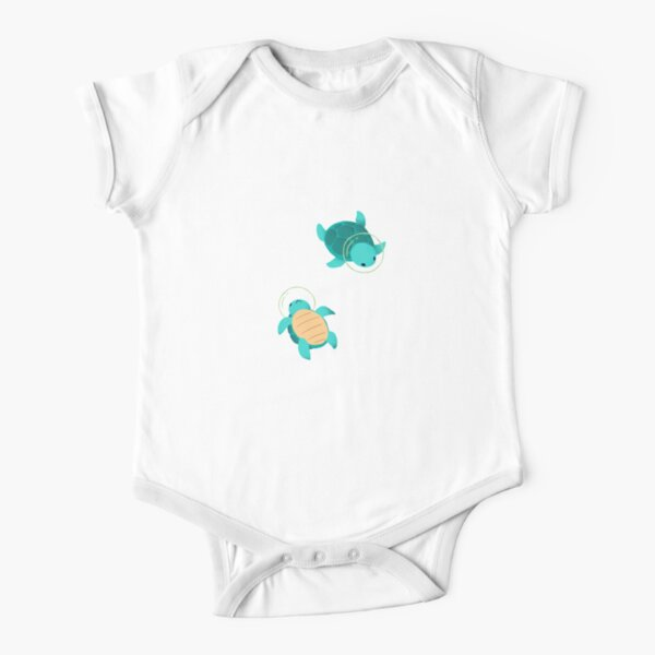 Space Turtles Short Sleeve Baby One-Piece