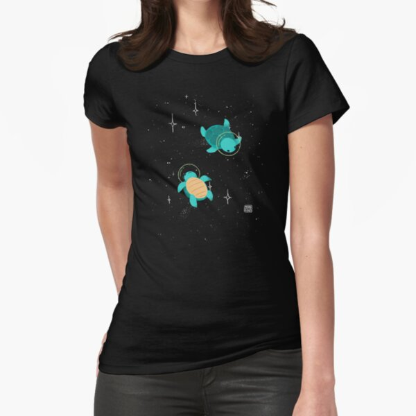 Space Turtles Fitted T-Shirt