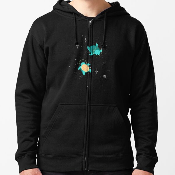 Space Turtles Zipped Hoodie
