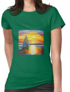 Sail Into the Sunset Womens Fitted T-Shirt