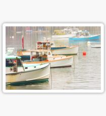 Lobster Boats In Bass Harbor Mount Desert Island Maine  Sticker