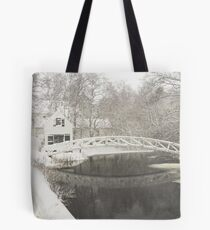 Snow Storm In Somesville Maine Photograph Tote Bag