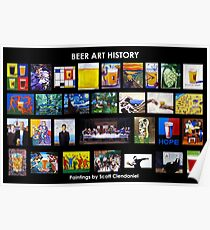 Beer Art History Poster Poster