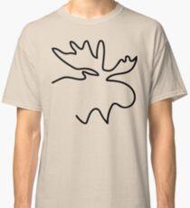Moose Outline Illustration Classic T-Shirt