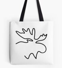Moose Outline Illustration Tote Bag
