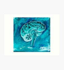 The Blue Brain Art Print