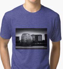 London City Hall & Skyline.  Tri-blend T-Shirt