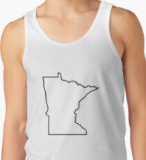Minnesota Outline Illustration Tank Top
