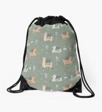 Lazy Llamas Drawstring Bag