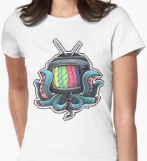 """""""Octopus Media Technology Error"""" Women's Fitted T-Shirt"""