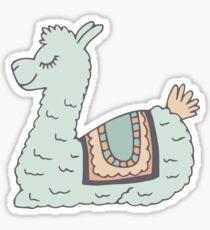 Blue Llama Sticker