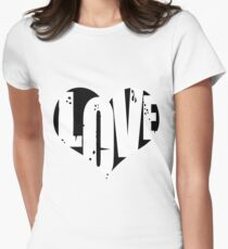 Love in Heart Women's Fitted T-Shirt