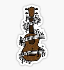 Ukulele with Music Sticker