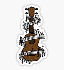 Pegatina Ukulele con música