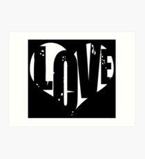 Love in Heart Art Print