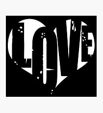 Love in Heart Photographic Print