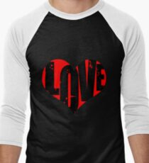 Love in Heart Men's Baseball ¾ T-Shirt
