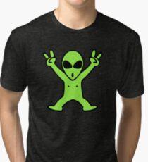 alien roswell cartoon Tri-blend T-Shirt