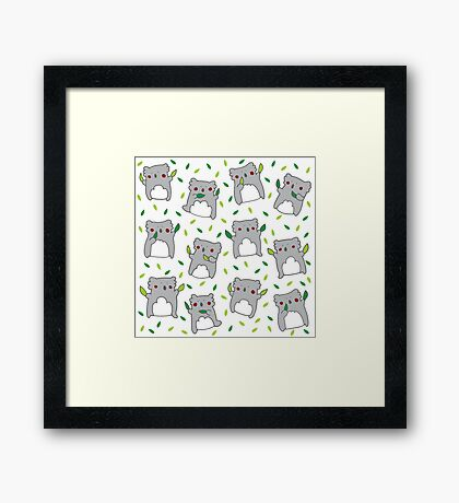 Koala dance Framed Print