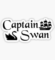 Captain Swan Icons Typography 2 Sticker
